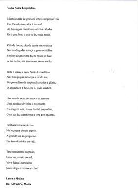 Acesse aqui a letra da Valsa de Santa Leopoldina