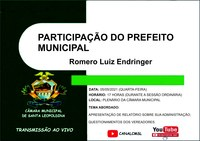 PARTICIPAÇÃO DO PREFEITO MUNICIPAL NA SESSÃO DO DIA 05/05/2021